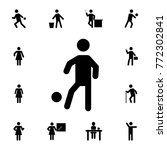 soccer playing man silhouette... | Shutterstock .eps vector #772302841
