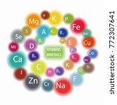 "scheme ""all vitamins and... | Shutterstock .eps vector #772307641"