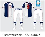 baseball uniform  sport jersey  ... | Shutterstock .eps vector #772308025