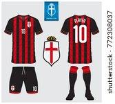 soccer jersey  football kit  t... | Shutterstock .eps vector #772308037