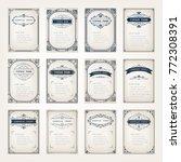 set of vintage frames with... | Shutterstock .eps vector #772308391