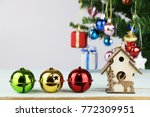 christmas holidays composition | Shutterstock . vector #772309951