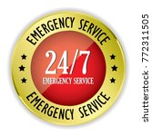 red 24 7 emergency service... | Shutterstock .eps vector #772311505