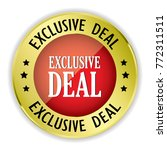 red exclusive deal badge with... | Shutterstock .eps vector #772311511