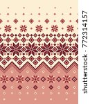 nordic pattern illustration. i... | Shutterstock .eps vector #772314157