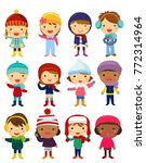 group of onchildren collection | Shutterstock .eps vector #772314964