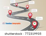 business road map timeline... | Shutterstock .eps vector #772319935