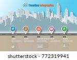 business road map timeline... | Shutterstock .eps vector #772319941