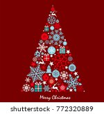 christmas background with... | Shutterstock .eps vector #772320889