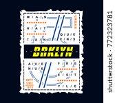 brooklyn typography tee graphic ... | Shutterstock .eps vector #772323781