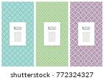 set of vertical seamless line... | Shutterstock .eps vector #772324327