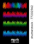 colored music spectrum set | Shutterstock .eps vector #77232562