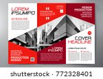 business brochure. flyer design.... | Shutterstock .eps vector #772328401