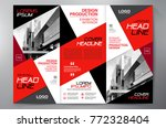 business brochure. flyer design.... | Shutterstock .eps vector #772328404