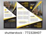 business brochure. flyer design.... | Shutterstock .eps vector #772328407