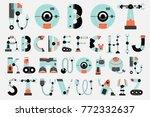 robot font robotics sci fi... | Shutterstock .eps vector #772332637
