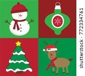 merry christmas items | Shutterstock .eps vector #772334761