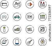 line vector icon set   barrier...