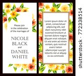 vintage delicate invitation... | Shutterstock .eps vector #772338514