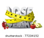 lose weight text with measure... | Shutterstock .eps vector #77234152