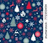 seamless christmas background... | Shutterstock .eps vector #772353454