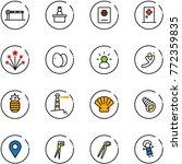 line vector icon set   barrier... | Shutterstock .eps vector #772359835