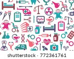 seamless background of... | Shutterstock .eps vector #772361761