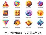 modern minimal vector logo for... | Shutterstock .eps vector #772362595