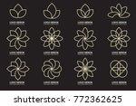 modern minimal vector logo for... | Shutterstock .eps vector #772362625