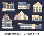 detailed images of various... | Shutterstock .eps vector #772365775