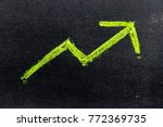 green color hand drawing chalk... | Shutterstock . vector #772369735