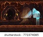 vector cartoon illustration of... | Shutterstock .eps vector #772374085