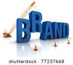 construction site crane... | Shutterstock . vector #77237668