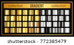 vector big collection of gold... | Shutterstock .eps vector #772385479