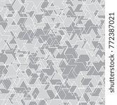geometric mosaic pattern.... | Shutterstock .eps vector #772387021