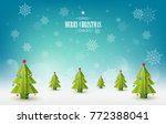 merry christmas background  a... | Shutterstock .eps vector #772388041