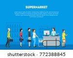 cartoon store counter desk...   Shutterstock .eps vector #772388845