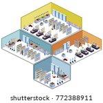 isometric 3d vector... | Shutterstock .eps vector #772388911
