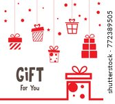 love valentine present... | Shutterstock .eps vector #772389505