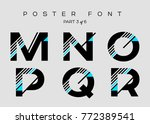 vector techno font with digital ... | Shutterstock .eps vector #772389541
