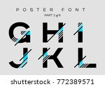 vector techno font with digital ... | Shutterstock .eps vector #772389571