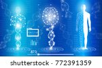 abstract background technology... | Shutterstock .eps vector #772391359