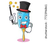 magician feather duster... | Shutterstock .eps vector #772396861