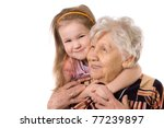 the elderly woman with grand... | Shutterstock . vector #77239897