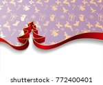 christmas tree from ribbons... | Shutterstock .eps vector #772400401