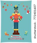 vintage christmas poster design ...   Shutterstock .eps vector #772401607