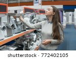 smart female customer girl... | Shutterstock . vector #772402105