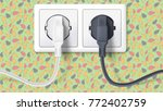 realistic black and white plugs ... | Shutterstock .eps vector #772402759
