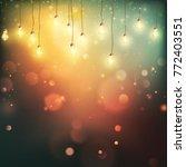 christmas night lights... | Shutterstock .eps vector #772403551