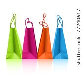 vector colorful shopping bags | Shutterstock .eps vector #77240617